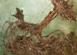 'L'albero di Amalia', olio su vetroresina, cm 80 x 100, Annamaria Buonamici