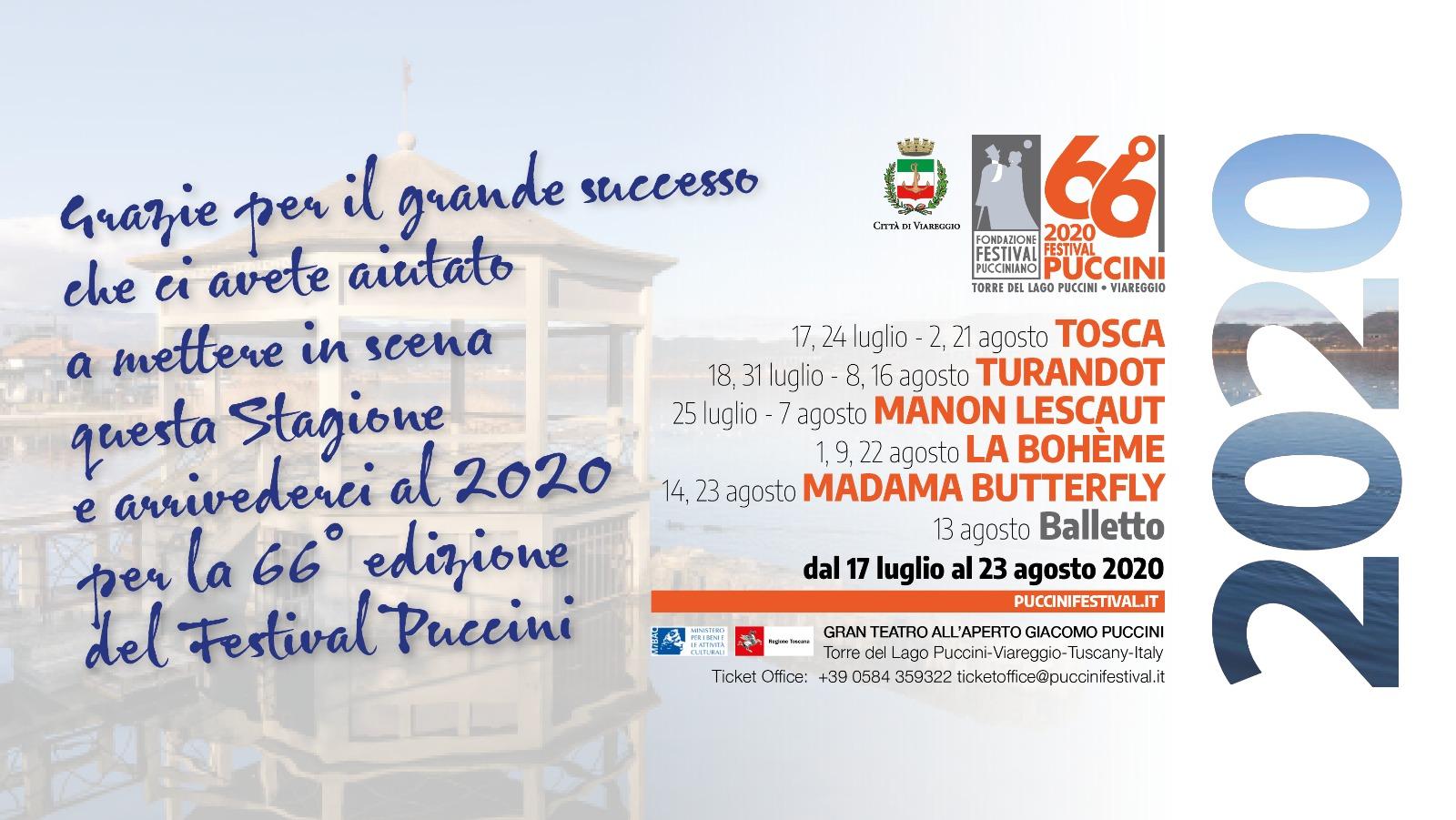 Calendario Carnevale Viareggio 2020.65 Festival Puccini Luglio Agosto 2019